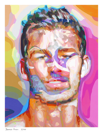 Shop for Gay Male Art Embracing Desire Print a limited edition print by San Francisco artist Donald Rizzo. Donald Rizzo paints optical illusions in a style call Ambiguous Delusions.