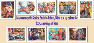 Maskamorphic Series Studio Prints