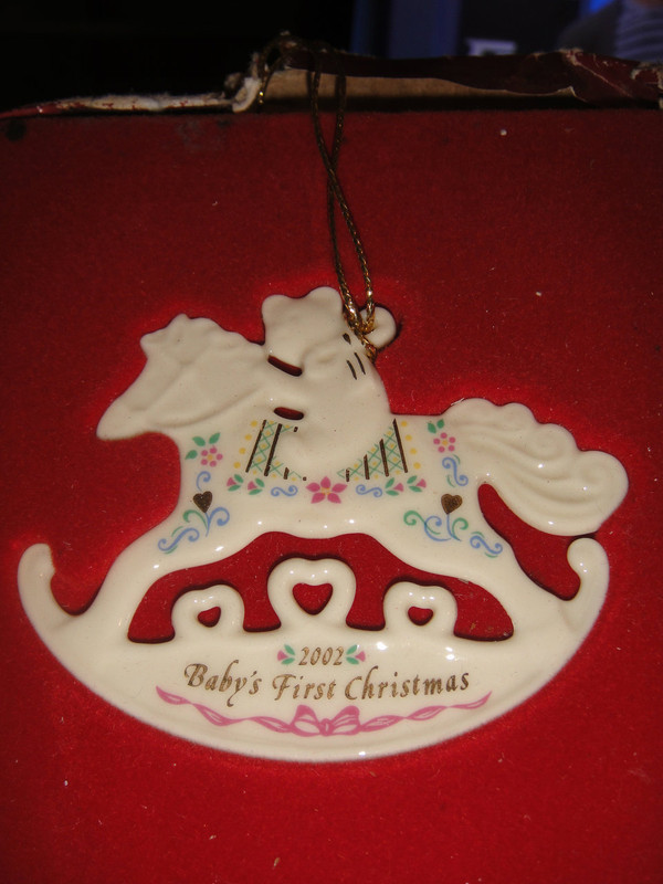 Lenox 2002 Annual Baby S First Christmas Ornament