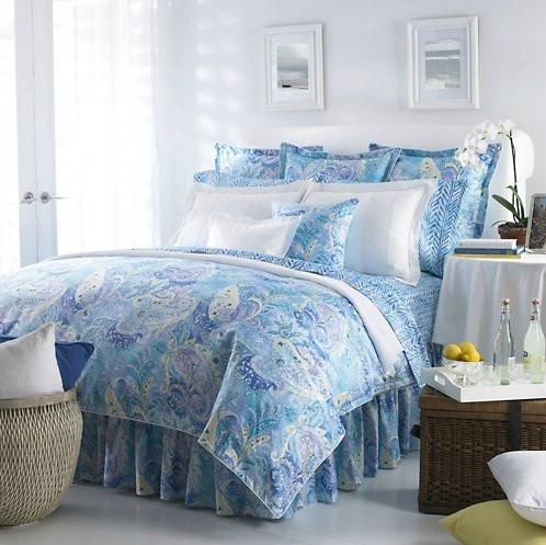 Ralph Lauren Jamaica Paisley Blue Twin Duvet Comforter