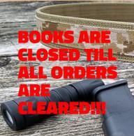 BOOKS ARE CLOSED!