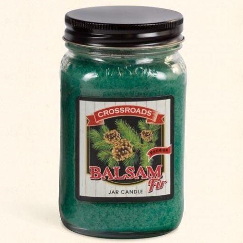 Crossroads Mason Jar Pint Candle 16 Oz. - Balsam Fir