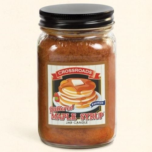 Crossroads Mason Jar Pint Candle 16 Oz. - Buttered Maple Syrup