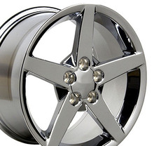 "17"" Fits Chevrolet - Corvette C6 Wheel - Chrome 17x9.5"