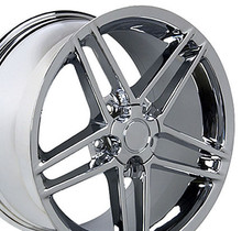 "17"" Fits Chevrolet - Corvette C6 Z06 Wheel - Chrome 17x9.5"