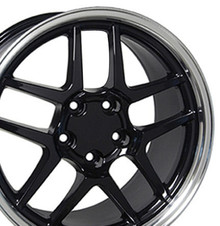 "17"" Fits Chevrolet - Corvette C5 Z06 Wheel - Black 17x9.5"