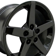 "17"" Fits Chevrolet - Corvette C6 Wheel - Black 17x8.5"