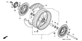 SALE Genuine Honda CB1300 2005 Right Front Brake Disk Complete Part 9: 45120MEJ901 (836443)