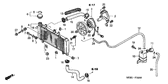 Genuine Honda CBF600S 2005 Radiator Set Part 4: 19020MERD00 (839158)