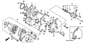 Genuine Honda 1000 Hurricane 1988 13X22x5 (Arai) Oil Seal Part 20: 91204KE8003 (877936)