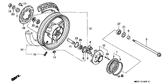 Genuine Honda 1000 Hurricane 1987 Rear Axle Distance Collar Part 11: 42620MM5000 (894118)