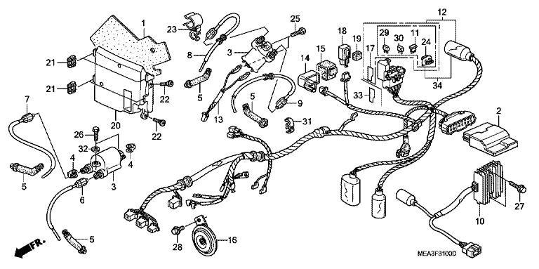 Honda Nighthawk 650 Wiring Harness Schematics