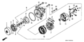 Genuine Honda Gold Wing 1993 10X16 Dowel Pin Part 21: 9430110160 (1987619)