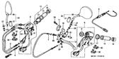 Genuine Honda Shadow 2001 Right Grip End Cap Part 15: 53167MCL000 (2272593)