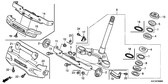 SALE Genuine Honda GLH125SH 2013 Steering Stem Sub Assembly Part 9: 53219KPNA00 (2327691)