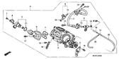 Sale Genuine Honda Deauville 2006 Throttle Body Assembly Part 4: 16401MEW921 (33378)