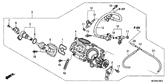Sale Genuine Honda Deauville 2011 Throttle Body Assembly Part 4: 16401MEW921 (343783)