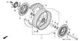 SALE Genuine Honda CB1300S 2005 Left Front Brake Disk Complete Part 10: 45220MEJ901 (543606)