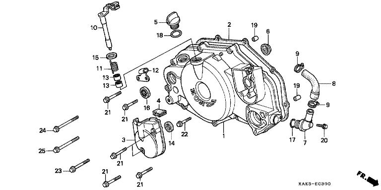 Genuine Honda Crm125r 1997 17x27x5 Oil Seal Part 16 91262mg7005