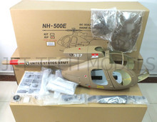 FUNKEY Scale fuselage NH-500E . 60(700) size Army Desert Color with Landing skid