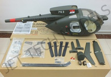 FUNKEY Scale fuselage Huhges 500MD TOW DEFENDER .50( 600) size  Army Green Color with Landing Skid