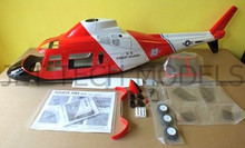 FUNKEY Scale fuselage Agusta 109A .50 (600) size Coast Guard Color with Fixed Landing Gear