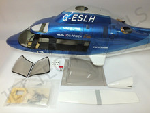 FUNKEY Scale fuselage Agusta 109A .30 (550) size Blue Color (Retract Version)