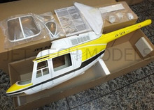 FUNKEY Scale Fuselage  Jet Ranger .60 (700) size YELLOW Color