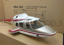 FUNKEY Scale Fuselage Bell 222  .30 (550) size RED Color with Retractable Landing Gear