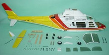 FUNKEY Scale fuselage AGUSTA 109A  .60 (700) size YELLOW Color with Fixed landing gear