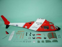 FUNKEY  Scale fuselage Agusta 109A .60 (700 ) size Coast Guard Color with Fixed Landing gear