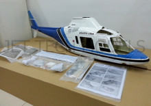 FUNKEY Scale fuselage AGUSTA 109A  .60 (700) size BLUE Color with Landing gear