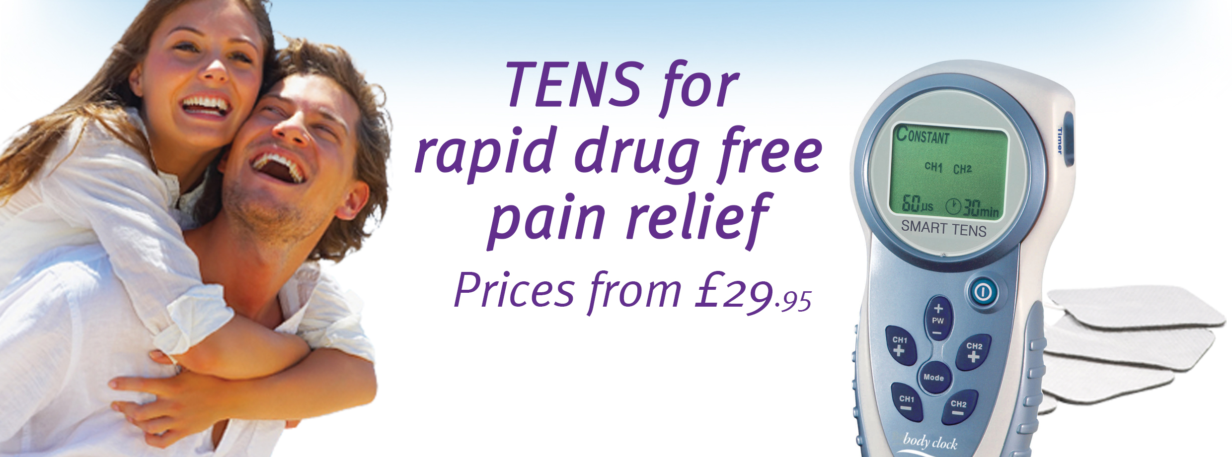 TENS machine pain relief