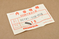 NOS Honda ATC70 ATC90 ATC110 C70 CL70 CT70 MR50 NA50 Z50 Woodruff Key 90741-035-000