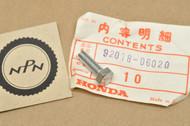 NOS Honda CB350 CB360 CJ360 CL350 CL360 MR175 MT125 SL350 Bolt 6x20 92018-06020