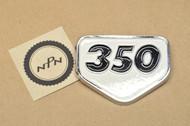 NOS Honda CB350 K2 CL350 K2 SL350 K0 Air Cleaner Cover Emblem Badge 87128-310-000 A