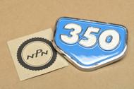 NOS Honda CB350 K0 CL350 K0 Left or Right Air Cleaner Badge Emblem California Blue 87128-287-010 BC