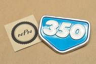 NOS Honda CB350 K0 CL350 K0 Left or Right Air Cleaner Badge Emblem Candy Blue Green 87128-287-010 AZ
