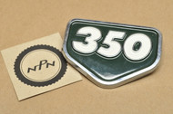NOS Honda CB350 K0 CL350 K0 Left or Right Air Cleaner Badge Emblem Pine Green 87128-287-010 BA