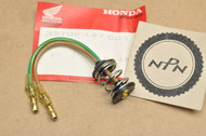 NOS Honda CM200 CB750 CB125 CT70 CT90 CT110 CX500 GB500 GL500 GL650 GL1100 GL1200 Gold Wing NB50 NX50 TLR200 XL80 XL100 XL125 XL185 XL200 XL250 XL350 XL600 XR250 Tail Light Lamp Socket Harness 33708-147-003