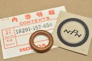 NOS Honda 1978-79 PA50 Exhaust Pipe Gasket 18291-157-650