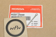 NOS Honda C70 CB175 CB650 CB750 CBX CR125 R CR80 R CR250 R CX500 GL1100 GL1200 NC50 PC800 TRX250 VF700 VF1100 VT700 VT1100 XL250 Cotter Pin 94201-25300