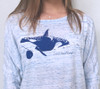 Orca Whale Long Sleeve Dolman Top