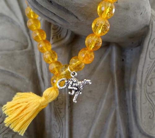 Citrine Cheetah Prayer Bracelet
