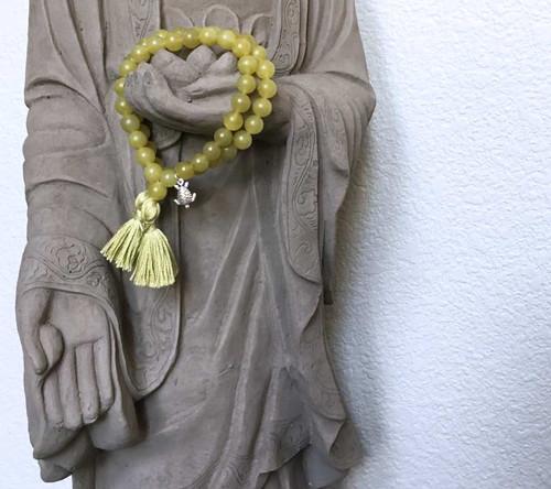 Peridot Sea Turtle Prayer Bracelet