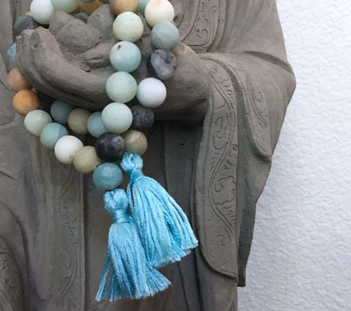 Frosted Amazonite Prayer Bracelet