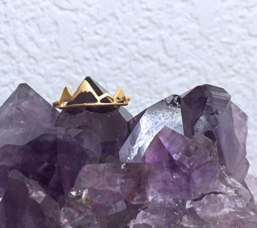 Matte Vermeil Gold Mountain Ring