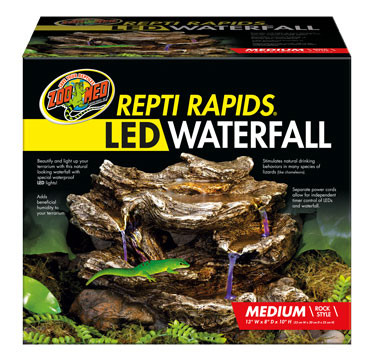 Zoo Med Repti Rapids 174 Led Waterfall Medium Rock