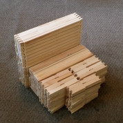 UNASSEMBLED WOOD FRAME FOR DEEP HIVE BODIES