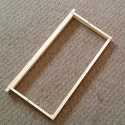 ASSEMBLED WOOD FRAME FOR DEEP HIVE BODIES (WITHOUT FOUNDATION)